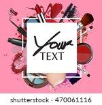 beautiful makeup brush and...   Shutterstock . vector #470061116