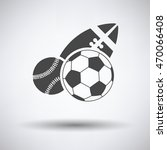 sport balls icon on gray... | Shutterstock .eps vector #470066408