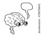 freehand drawn speech bubble... | Shutterstock . vector #470078642