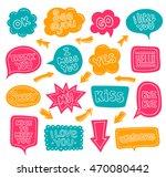 bright multi colored dialog... | Shutterstock .eps vector #470080442