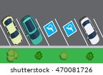 Colored Parked Cars  Top View....