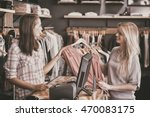 smiling blonde doing shopping... | Shutterstock . vector #470083175