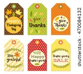 cute autumn and thanksgiving... | Shutterstock .eps vector #470084132