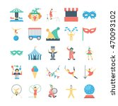 circus colored vector icons 4 | Shutterstock .eps vector #470093102