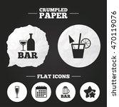 crumpled paper speech bubble....   Shutterstock .eps vector #470119076