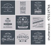 friendship. typography quotes. | Shutterstock .eps vector #470119766