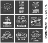 friendship. typography quotes. | Shutterstock .eps vector #470121776