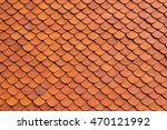 Close Up The Red Roof Tile...