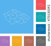 map of czech republic   Shutterstock .eps vector #470130392