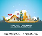 thailand landmark and travel... | Shutterstock .eps vector #470135396