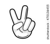 Illustration Of Hand Victory...