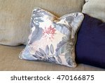 fluffed throw pillows lay on a... | Shutterstock . vector #470166875