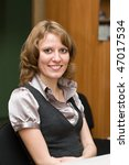 young caucasian woman looking... | Shutterstock . vector #47017534