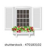 shutter window isolated on...   Shutterstock .eps vector #470183102