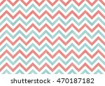 watercolor coral pink and blue... | Shutterstock . vector #470187182