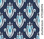 ikat fabric seamless pattern... | Shutterstock .eps vector #470188496