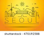 minimal vector seoul city...   Shutterstock .eps vector #470192588