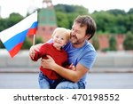portrait of happy family with... | Shutterstock . vector #470198552