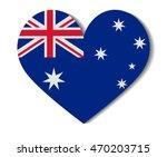 heart flag australia | Shutterstock .eps vector #470203715