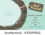 just arrived birds nest... | Shutterstock .eps vector #470209502