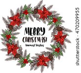 merry christmas and happy new... | Shutterstock .eps vector #470209955