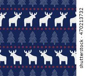 christmas seamless pattern.... | Shutterstock .eps vector #470213732