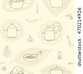 hand drawn doodles objects food ... | Shutterstock .eps vector #470214926
