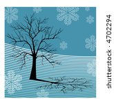 Winter Tree Scene Vector