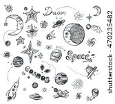 hand drawn doodle set with... | Shutterstock .eps vector #470235482