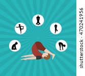 yoga concept with icon design ... | Shutterstock .eps vector #470241956