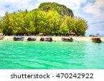 poda islands in krabi unseen in ...   Shutterstock . vector #470242922