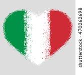 flag of italy grunge heart | Shutterstock .eps vector #470262698