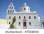greek orthodox church in the... | Shutterstock . vector #47028043