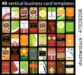 40 colorful vertical business... | Shutterstock .eps vector #47028208