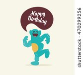 monster party. happy birthday... | Shutterstock .eps vector #470299256