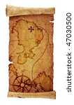 old treasure map  isolated on... | Shutterstock . vector #47030500