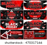 set of black friday sale. black ... | Shutterstock .eps vector #470317166