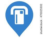 atm map pointer icon. vector... | Shutterstock .eps vector #470325332