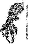 phoenix tattoo | Shutterstock .eps vector #470326232