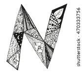 vintage monogram n. doodle...   Shutterstock .eps vector #470333756