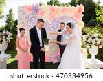 Wedding Ceremony. Happy Bride...