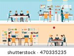 office people with office desk... | Shutterstock .eps vector #470335235