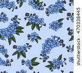 blue realistic forget me not... | Shutterstock .eps vector #470338445
