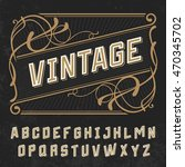vintage letters font on retro... | Shutterstock .eps vector #470345702