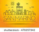 minimal vector san marino city...