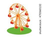classical retro ferris wheel on ... | Shutterstock . vector #470360132