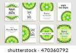 set of cards save the date.... | Shutterstock .eps vector #470360792