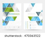 business flyer template ... | Shutterstock .eps vector #470363522