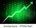 stock market going up. eps10 | Shutterstock .eps vector #470367662