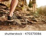 Closeup Of Man Trail Running O...